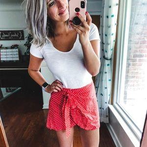 XO Mandy Sue Red & White Petal Skirt Small